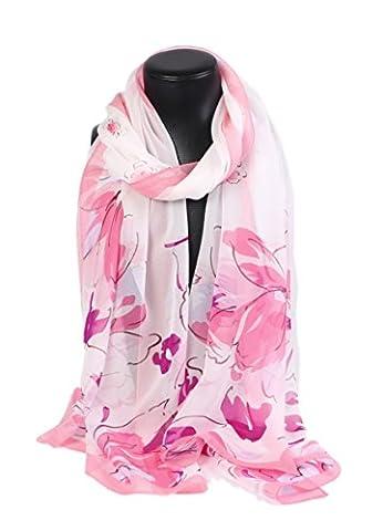 Prettystern - 180cm X55cm 100% Silk Springtime & Somme Georgette