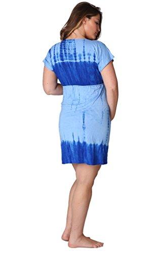 Maternity Women Ingear Tie Dye Cap Sleeve Dress Blu