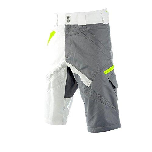 O'Neal Stormrider MTB Hose Shorts Grau Weiß Mountainbike Downhill BMX Freeride Hose, 1230-5, Größe 28/44