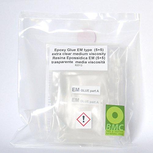 HARZ EM-Typ Einzelne Dosis Medium Viskosität 5+5 Röhrchen Zweikomponenten A+B für Marmor und Granit (Marmor-und Granit-kleber)