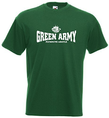plymouth-argyle-fc-green-army-football-club-t-shirt-small