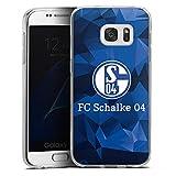DeinDesign Silikon Hülle kompatibel mit Samsung Galaxy S7 Case Schutzhülle FC Schalke 04 Camouflage S04