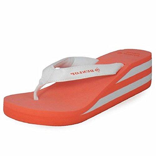 Loudlook Neue Frauen-Damen-Foam Toe-Post Casual Flat Strand Sommer Sandalen Schuhe Grösse 3-8 Red