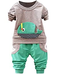 POLP Niño Conjunto Niños Bebé,Ballena de Dibujos Animados Camiseta Manga Corta para Camiseta Verano