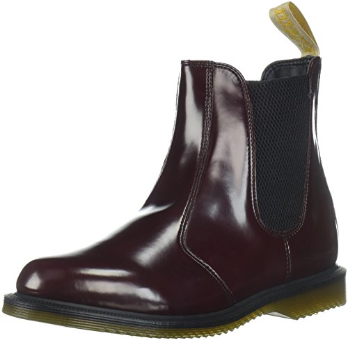 Dr. Martens Women's Vegan Flora Pull on Leather Chelsea Boot Cherry Red Size 8