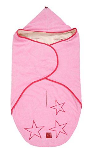 Kaiser 6536521 Kuschelweiche Velours Einschlagdecke STAR, passgenau für alle Tragetaschen und Babyschalen, 80 x 40 cm, rosa