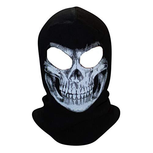 loween Kostüm Party Horror 3D Gedruckt Schädel Muster Maske Scary Full Over Head Maske Party Cosplay für Erwachsene ()
