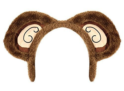 elzig Affe Teddybär Tier Ohren Haarband Stirnband Fest Kostüm Kleid Outfit Zubehör (Herren Affe Kostüm)