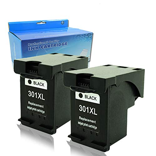 Teng® 2X Noir Remanufacturé Cartouche d'encre Compatible pour HP 301 XL für Envy 5530 4500 Deskjet 1510 1000 2540 3050 2510 1050A 2547 1514 2050 Officejet 2620 4630