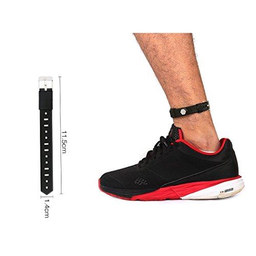Baaletc Extender für Fitbit Flex / 2& Fitbit Alta Fitness Tracker Armbänder, für größere Handgelenke oder Knöchel designt, 14mm (Breite) x 115mm (Länge), Schwarz