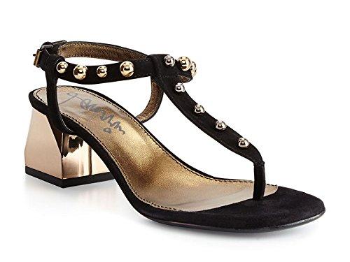 Sandali tacco medio Lanvin donna in camoscio nero - Codice modello: FWSHFI4FKIPAP15 - Taglia: 39 IT