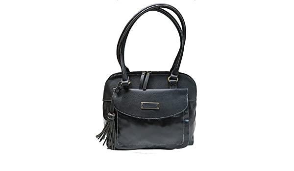 Tignanello Purse Handbag Buckle Down Leather Shopper Black By Tignanello Co.   Amazon.in  Shoes   Handbags 144aa2d089bc0