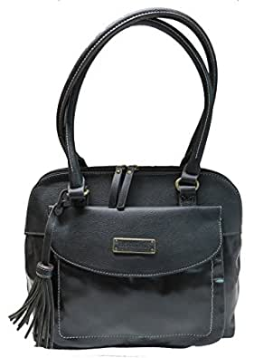 ... Tignanello Purse Handbag Buckle Down Leather Shopper Black By Tignanello  Co. f3e62f883ccb2
