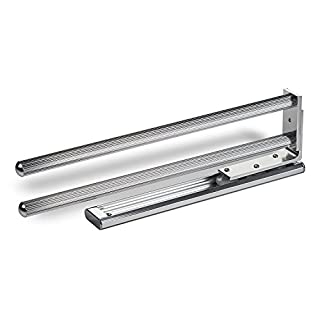 SO-TECH® Extendable Towel Rail 2-armed Rotating 335 mm Chrome polished Towel Holder Bar Towel Holder