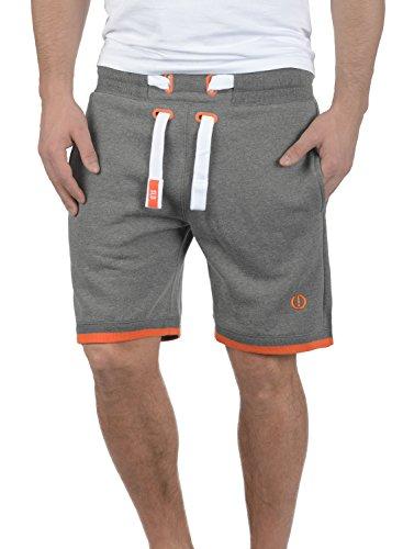 s Herren Sweatshorts Kurze Hose Jogginghose mit Fleece-Innenseite und Kordel Regular Fit, Größe:M, Farbe:Grey Melange (8236) ()