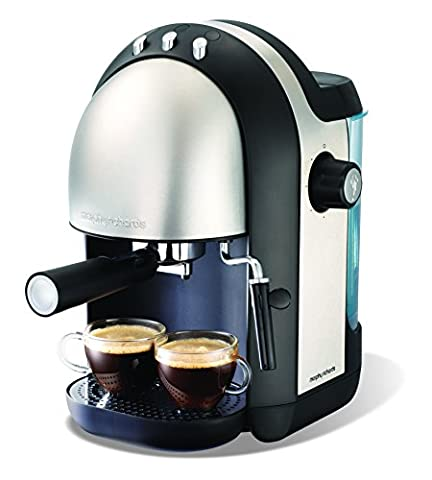Morphy Richards 172004 Accents Espresso Coffee Maker - Black/Stainless Steel