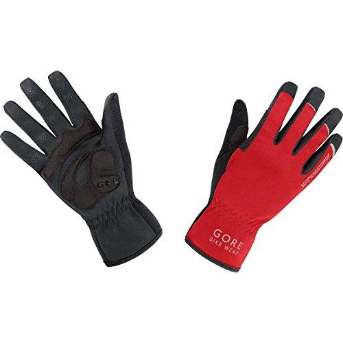 Gore Bike Wear Universal Windstopper - Guantes de ciclismo unisex, color rojo / negro, talla 9