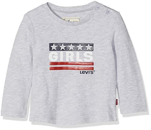 Levi's kids tee-Shirt NM10514, Camiseta para Bebés, Gris (Light China Grey 22), 1-3 Meses (Talla del Fabricante: 3M)