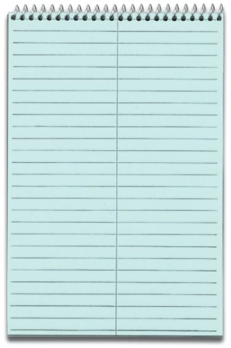 """Steno Book, Gregg Ruled, 80 Sheets/PD, 6""""x9"""", 4/PK, Blue, Sold as 1 Package"""