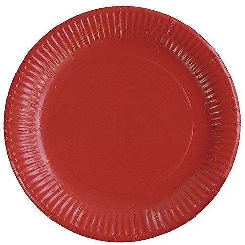 Braun & Company 3704-0205 - Platos de Fiesta (10 Unidades), Color Rojo