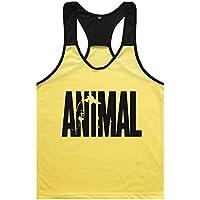 Haodasi Animal Tank Tops Canotte Men's Singlets Bodybuilding Vest Fitness Bodybuilding Stringers