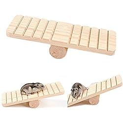 Namgiy Hamster Juguetes de madera para mascotas, plataforma para escalada, juegos de ardilla, cobaya, cerdo, juguete para animales pequeños