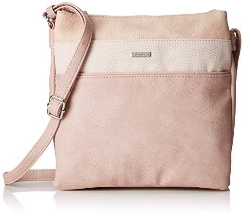 Tamaris Khema Crossbody Bag M, Sacs bandoulière femme, Rose (Rose Comb.), 2.5x24x25 cm (W x H L)