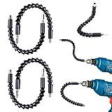 Flexible Verlängerung Schraubendreher Bohrer Bits, NOUVCOO 4 Stück 300mm Hex Schaft Schraubendreher Clipschloß magnetisch Quick Connect Antriebswelle Spitze NC08
