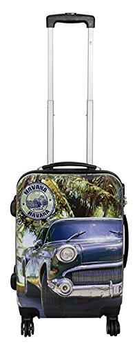 Koffer M Klein Havana Auto Car Blue 55 cm Hartschale Bord Gepäck Trolley Bowatex
