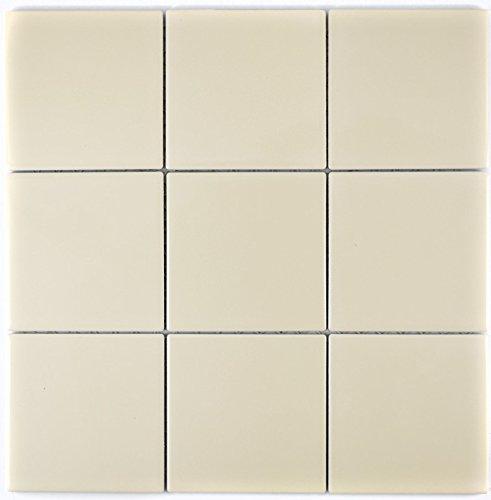 Mosaik Fliese Keramik Beige Glänzend Für WAND BAD WC DUSCHE KÜCHE  FLIESENSPIEGEL THEKENVERKLEIDUNG BADEWANNENVERKLEIDUNG Mosaikmatte  Mosaikplatte 1 Matte