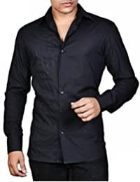 Dazzio Men's Slim Fit Cotton Shirt (Please Refer Size Chart)