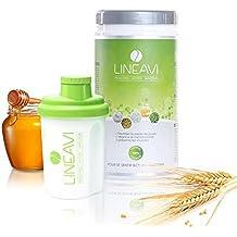 LINEAVI Diät Aktivkost • natürlicher Eiweiß-Shake zum Abnehmen • laktosefrei und glutenfrei • in Deutschland hergestellt • 500g inklusive Shaker