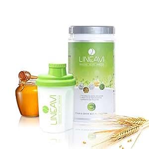 Dieta attiva LINEAVI • frullato proteico naturale per dimagrire • senza lattosio e senza glutine • made in Germany • 500 g con shaker incluso