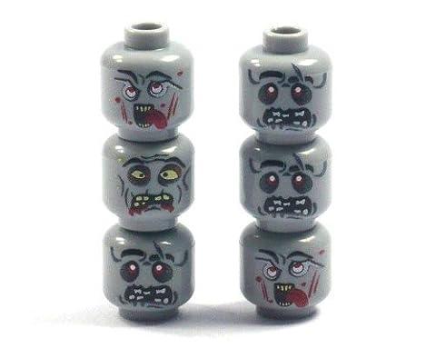 LEGO - Têtes De Zombies Personnalisé En Pièce