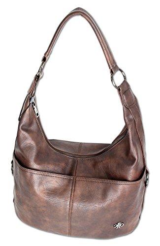 371ab5c558a43 Jennifer Jones Taschen Damen Damentasche Handtasche Schultertasche  Umhängetasche Tasche Hobo Bag in versch. Farben (