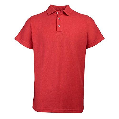 RTY Schwergewicht Workwear Pique Polo Shirt Gr. XXXL, Rot (Polo Pique Waschen)