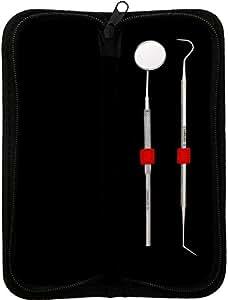 CANDURE® - 2 PIÈCES Miroir d'inspection dentaire + Sonde de nettoyage des dents de soins dentaires - Curette pour éliminer le tartre