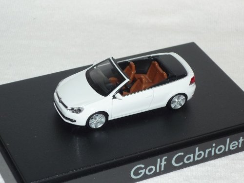 Herpa Volkwagen Golf Vi 6 2011 Cabrio Cabriolet Weiss Ho H0 1/87 Modellauto Modell Auto