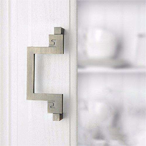 Mmdlai maniglia in bronzo verde maniglia per porta armadio maniglia per porta antica maniglia in legno anticato maniglia antica a manopole maniglia