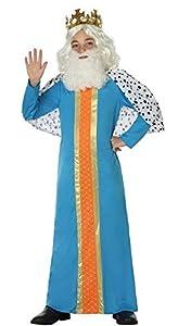 Atosa-31594 Atosa-31594-Disfraz Rey Mago niño infantil-talla 10 a 12 años azul-Navidad, color (31594)