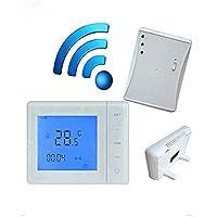 433MHZ termostato inalámbrico de la caldera de gas Control de RF 5A Termóstato de calefacción de la caldera de pared Controlador de temperatura LCD digital