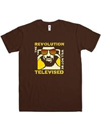 Refugeek Tees - Hommes Revolution T Shirt - Large - Dark Chocolate