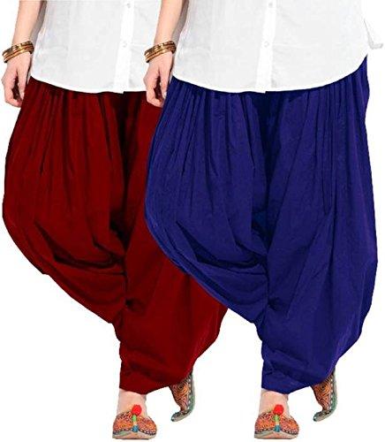 Black macy Women's Soft Cotton Ready made Patiala Bottom Salwar Combo Pack...