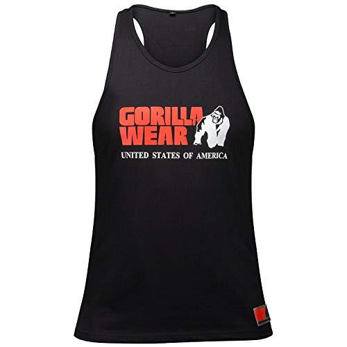 Gorilla Wear Classic Tank Top 100{d4326da5c7abfaba1bc7678a20176ebbfc649476ef580b88db1262a2c3e8b00e} Baumwolle (90104) (Schwarz, L)