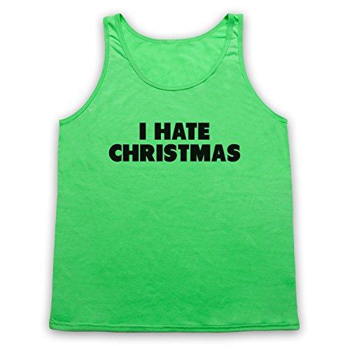 I Hate Christmas Funny Anti Xmas Slogan Tank-Top Weste Neon Grun