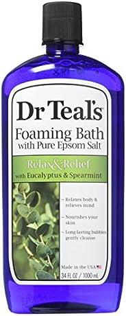 Dr Teal's Foaming Bath (Epsom Salt), Eucalyptus Spearmint, 34 Fluid O