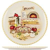 Home Assiette à pizza 34cm Céramique Multicolore