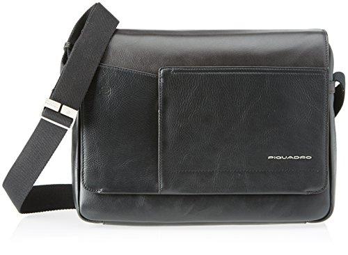 Piquadro Ca4132w82, Borsa Messenger Unisex Adulto, Nero, 8 x 27 x 35 cm (W x H x L)