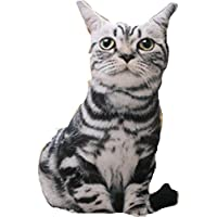 Hi8 3d almohada en forma de gato y un perro – cojín de peluche con diseño