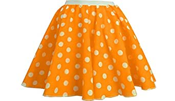 Polka dot skirt - rock n roll, 50s/60s style (Black and Red, L (14-16))